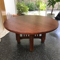 "Solid Oak 60"" round Dining Table Los Angeles, 90025"