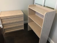 Wooden 3 drawers with bookshelf that attaches Oakville, L6H