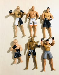 UFC Deluxe Fighters Action Figures! Nogueira, Tanner, Silva, Serra