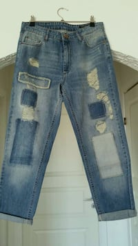 Blue Denim Distressed Jeans M Stavanger