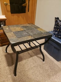 Customized tile end table
