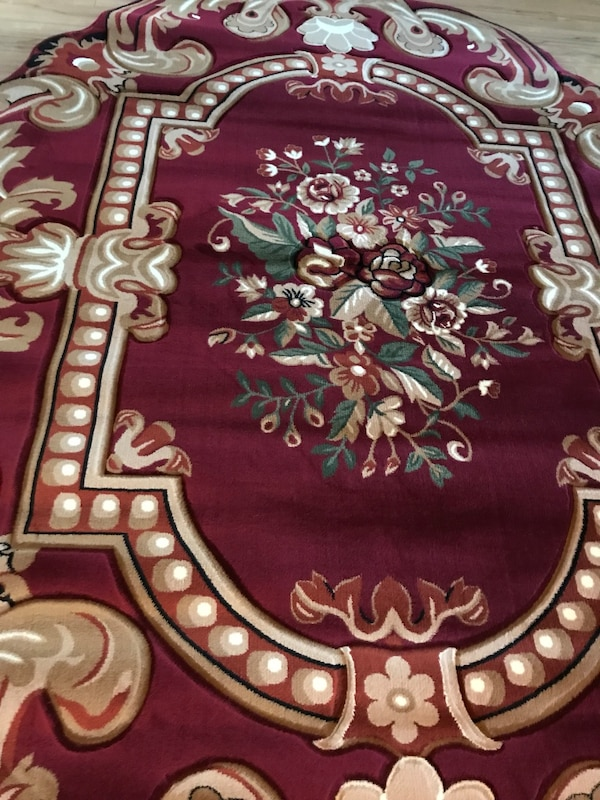 Brand new heavy soft Area Rug size 8x11 nice Red Carpet Oval Area Rug fd2a9ce5-502a-46af-a1d0-a18e80e30f4c