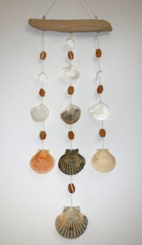 Sea shell wind chimes wall decoration