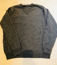 Men's J.Crew V neck sweater. 100% Wool. Size xl but fits like a large