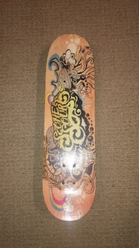 brown and black floral skateboard North Saanich, V8L 5T2