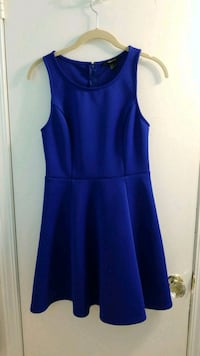 Blue fit and flare dress White Plains, 10607