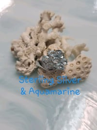 Sterling Silver Aquamarine Cluster Ring Hernando Beach, 34607