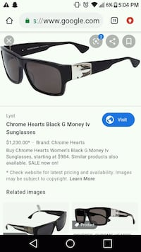 Chrome heart g money sunglasses Toronto, M2H