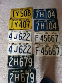 5 complete sets vintage car license plates Hamilton, L9C
