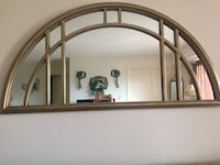 Rustic chick wood wall mirror