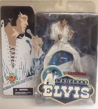 ELVIS PRESLEY Action Figure #3 - Las Vegas White Suit '70 - 2004 New! Las Vegas, 89119