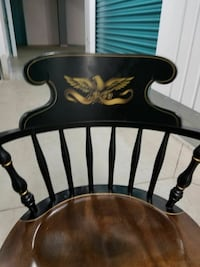 B.bent bros eagle arm chair with gold stencil Leominster