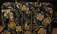 yellow blue and white floral vera bradley crossbody bag Leesburg, 20176