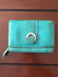 teal and white leather wallet Montréal, H3H