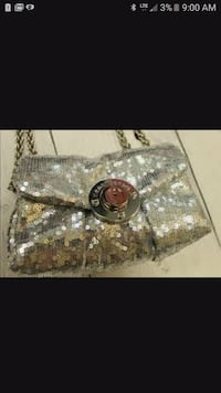 Silver sequin hand purse Dallas, 30157