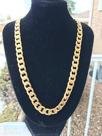 24inch ion plated yellow gold stainless curb chain Denver, 80221
