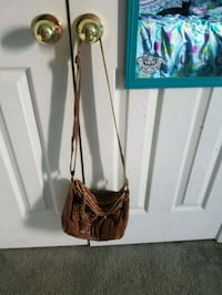 brown leather crossbody bag Bell Buckle, 37020