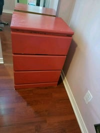 Red chest of drawers Montreal, H8Y 1Z2