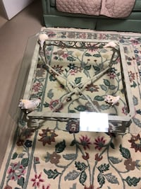 2 Glass top coffee tables