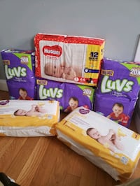 Baby sz 1 diapers, 288 total diapers. $25 for all.
