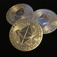 Silver Ethereum collectible coins  White Rock, V4B