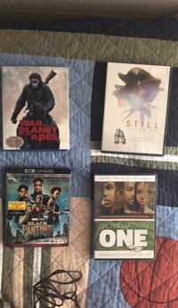 Four assorted dvd movie cases Columbia, 21045