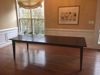 Crate and Barrel Espresso Brown Wood Dining Room Table(With Leaf) Arlington, 22206