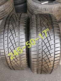 """Pair 245-50-17"""" CONTINENTAL EXTREME CONTACT West Valley City, 84119"""