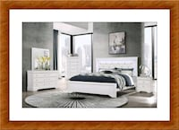 White bedroom set with led light and mattress included Baltimore, 21209