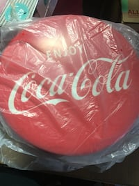 Coca Cola licenses bar stool seat cushions.  Brand new old stock $20 each 2/$35  Burlington, L7N