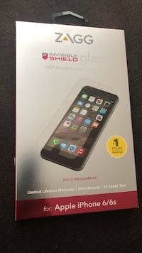 Zagg invisible shield tempered glass for iphone 6 box