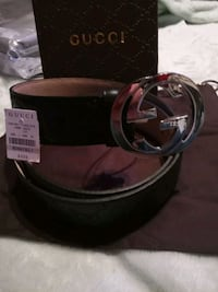 """""""GUCCI"""" Leather """"made in Italy - Belt Modesto, 95354"""