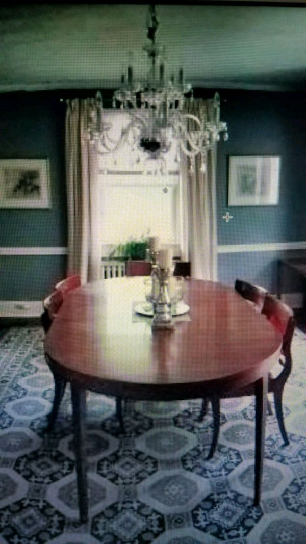 Pleasant Vintage Solid Cherry Dining Room Set With 6 Chairs Download Free Architecture Designs Grimeyleaguecom
