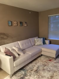 White sectional, only had a coupe months excellent condition  Port Moody, V3H
