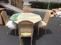"""48"""" Solid Marble Octagon Table with 4 Chairs Laguna Woods, 92637"""