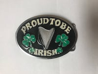 Black, Green, White and Silver Proud To Be Irish St. Patricks Day Belt Los Angeles
