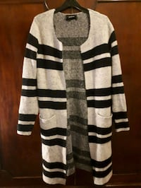 Knit jacket with stripes, grey/black No.small Greater London, W2 6JE