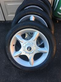 gray 5-spoke car wheel with tire West Deptford, 08086