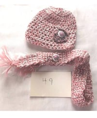 Handmade one of a kind doll hat/scarf set
