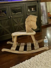 brown wooden rocking horse chair Bakersfield, 93305