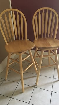 Two brown wooden bar stools Boutte, 70039