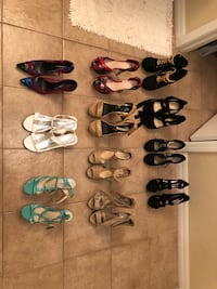 Assorted pairs of shoes and sandals Tampa