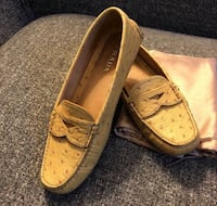 Authentic Prada ostrich skin loafers shoes  Burnaby