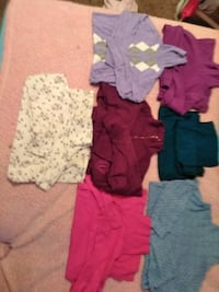 seven assorted color turtle-neck sweaters