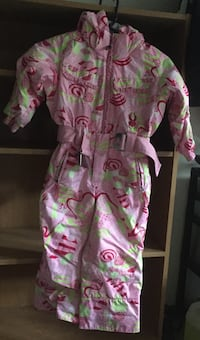 pink and green floral print footie pajama Cambridge, N1R
