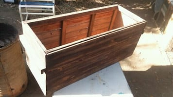 Slightly used wood planter