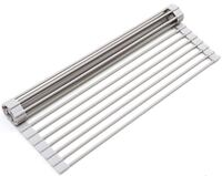 Surpahs Over the Sink Multipurpose Roll-Up Dish Drying Rack Gray New GOODYEAR