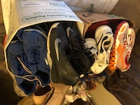 3 boxes brand name shoes good variety, bundle only Tampa, 33604
