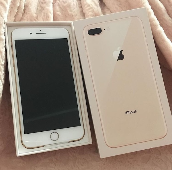 Silver iPhone 8 plus with box