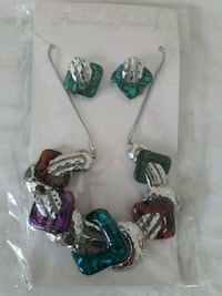two pairs of silver and blue earrings Coral Gables, 33134